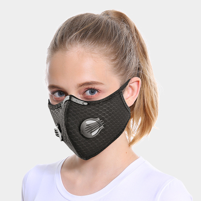 NO.ONEPAUL Dust masks activated carbon windproof mouth muffled anti-flu masks fashion black mask cotton mask facial respirator 1