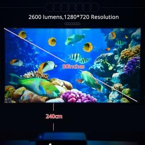 Image 5 - TouYinger T6 портативный HD светодиодный проектор HDMI ( Android Wifi опционально) видео проектор Поддержка 4K Full HD 1080p домашний кинотеатр