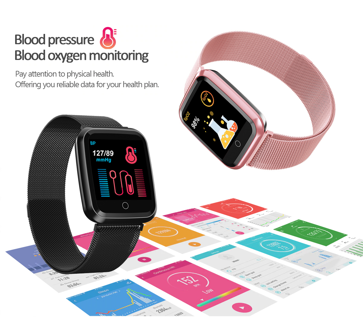 DAROBO N99 Sport and Heart rate monitor Smart watch with Waterproof Blood pressure monitor for men women available in Android IOS 11