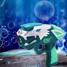 USB Rechargeable Projection Bubble Gun Music Electric Automatic Bubbles Machine Maker Bath Toy Kids Outdoor Soap Water Blower