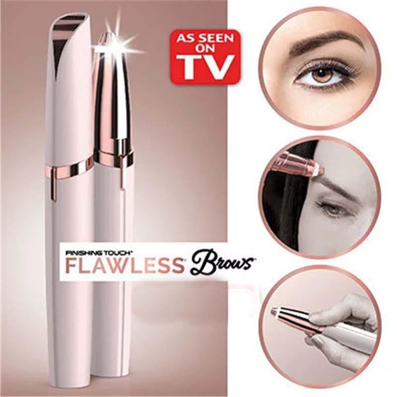 Electric Eyebrow Trimmer Makeup Painless Eye Brow Epilator Mini Shaver Razors Portable Facial Hair Remover Women depilator