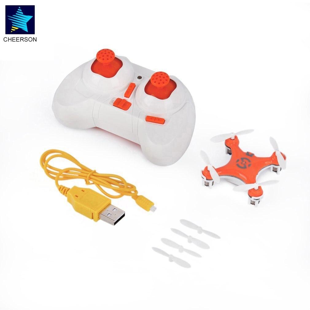 Mini RC Drone helicóptero Radio avión modo sin cabeza Drone Quadcopter Mini para Cheerson CX-10 6 ejes de juguete de Control remoto para chico JJRC H8 Mini Drone sin cabeza modo Dron 2,4G 4CH RC helicóptero 6 Axis Gyro 3D eversión RTF 360 grados con luces nocturnas LED