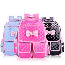 2021 Cute Princess plecak tornister dla dziewcząt PU wodoodporne torby szkolne dla dziewczynek 1-3-6 klasy ortopedyczne tornister dla dziewcząt tanie tanio CN (pochodzenie) Dziewczyny Poduszka powietrzna pas Poliester Floral Miękka Plecaki zipper NONE Moda