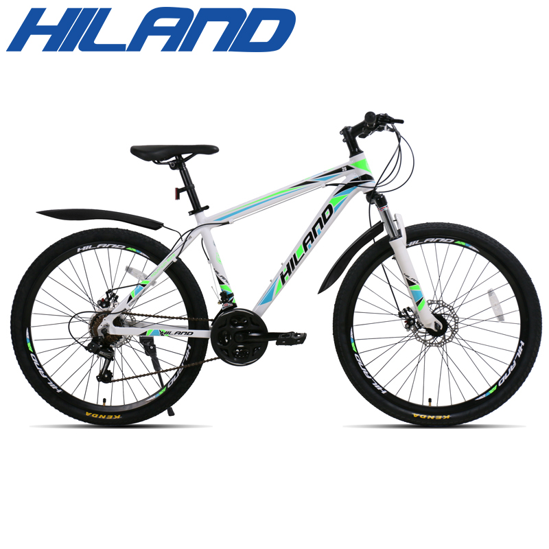 HILAND 26 inch 21 Speed Aluminum Alloy Suspension Bike Double Disc Brake Mountain Bike Bicycle with Service and Free Gifts 4