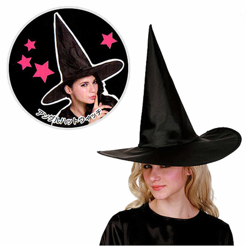 Black Witch Hats Masquerade Wizard Hat Party Hats Cosplay Halloween Party Fancy Dress Decor Top Hat FC