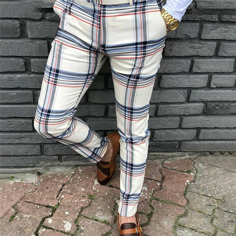 Pantalones A Cuadros Para Hombre Ropa De Calle Hip Hop Ajustados Chinos Sexy Ajustados Pantalones Para Correr Informales De Talla Grande Novedad Pantalones Informales Aliexpress