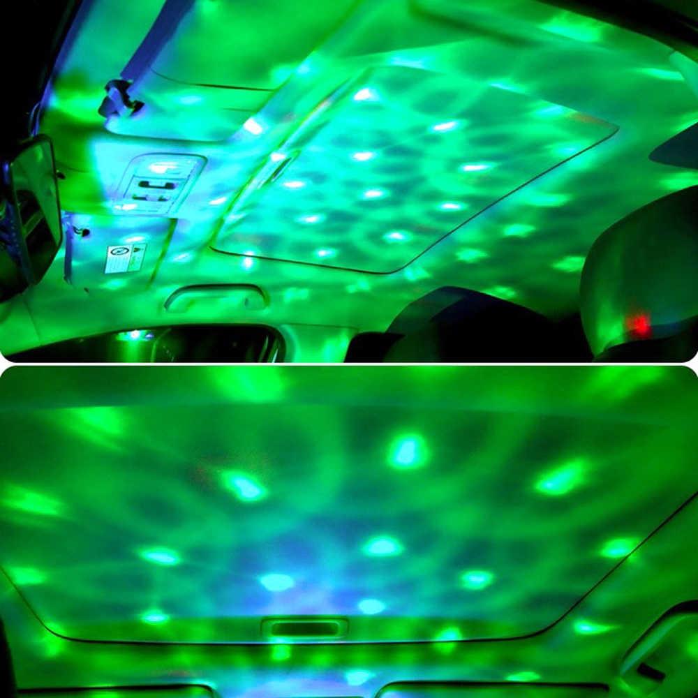 LED COCHE USB atmósfera luz DJ Mini colorido música sonido lámpara teléfono superficie para fiesta