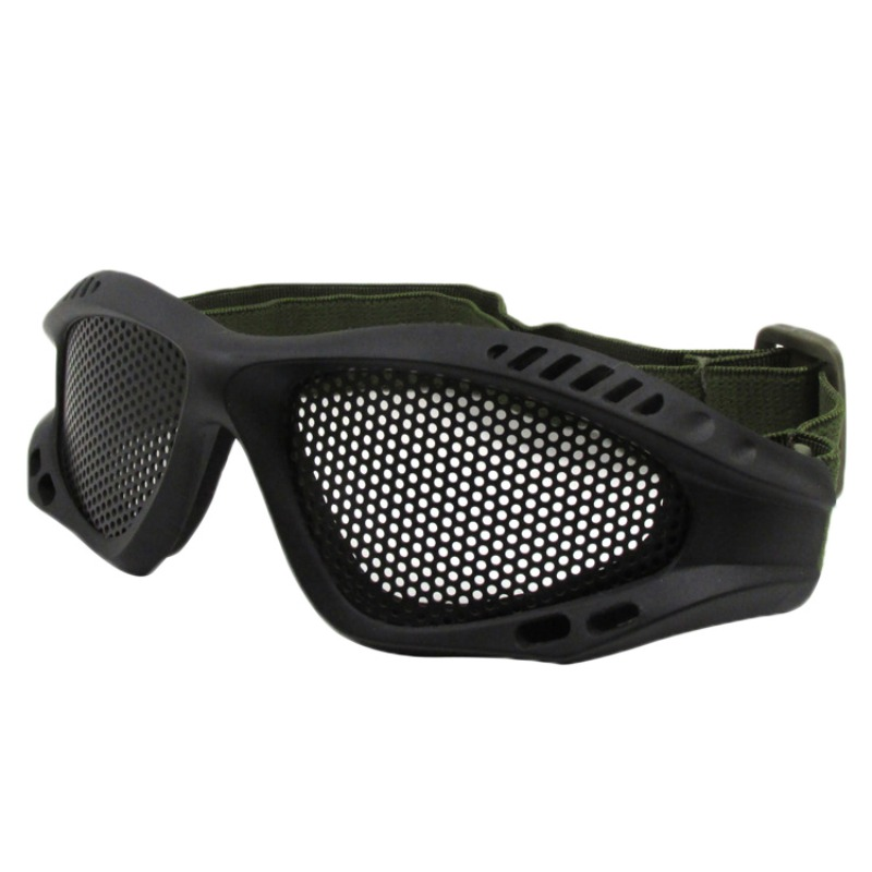 2019 Tactical Goggles Cycling Climbing Protect Eyes Mesh Glasses Wire Mesh Eyewear Goggles Adjustable Headband