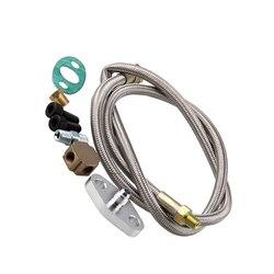 Zamiennik dla turbosprężarki T3 aluminium Turbo wąż wlotowy oleju zestaw adapterów części do obróbki cnc w Turboładowarki i części od Samochody i motocykle na