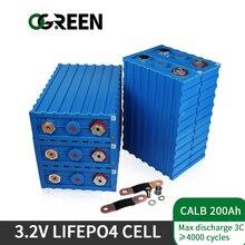 Ogreen 3,2 V Batterie 16PCS 200Ah lifepo4 Batterie pack CALB Lithium-Eisen Phosphat zelle Solar boot EV RV Mit sammelschienen