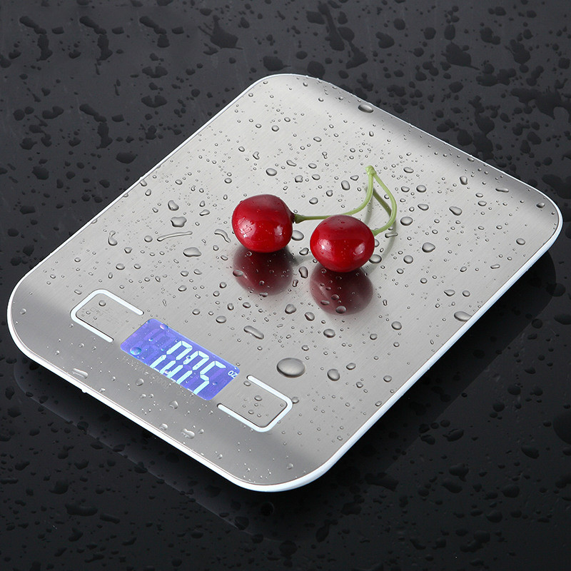 Household Kitchen Scale Slim LCD Digital Electronic Kitchen Scales 10kg/5kg 1g Food Diet Postal Scales Balance Measuring Tool
