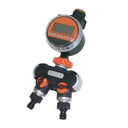 1 zestaw automatyczny elektroniczny LED czujnik deszczu czasowy wyłącznik przepływu wody 2-way wąż Splitter do ogrodu gospodarstwa rolnego nawadniania w szklarni kontroler