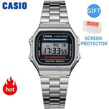 Часы Casio золотые мужские часы Роскошные светодиодный цифровые Кварцевые водонепроницаемые часы спортивные военные наручные часы 2021,Мужски...