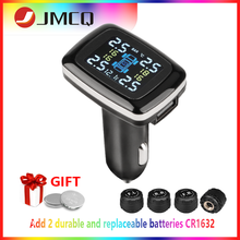 JMCQ Cigarette Lighter USB port LCD real-time Play Car TPMS Tire Pressure Monitoring System Sensors Auto Security Alarm Systems tpms tire pressure monitoring system diagnostic tool tire pressure alarm cigarette lighter temperature diy psi bar careud 903