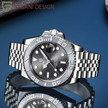 PAGANI DESIGN męski zegarek mechaniczny 1651 szafirowy automatyczny zegarek 100M wodoodporny zegarek biznesowy Relojes Para Hombre tanie i dobre opinie PAGRNE DESIGN 10Bar CN (pochodzenie) Składane bezpieczne zapięcie Mechaniczna nakręcana wskazówka Samoczynny naciąg
