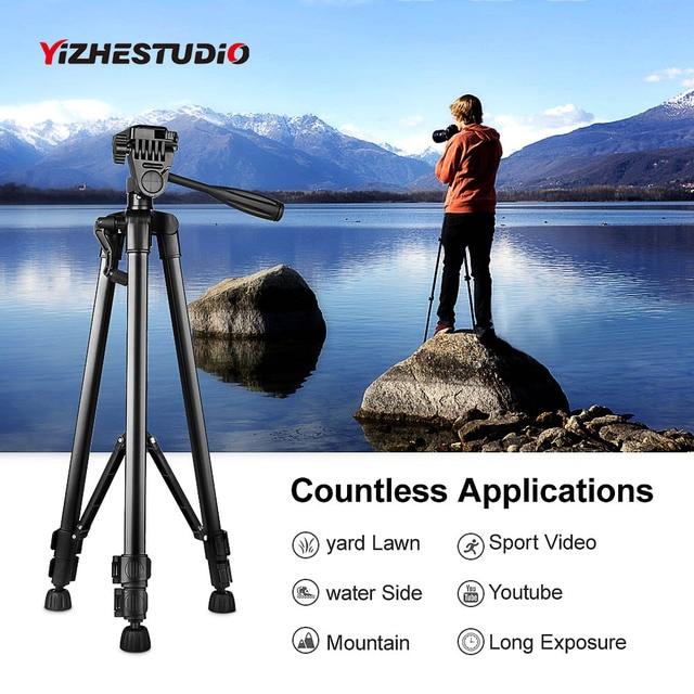 $ US $18.04 Yizhestudio Protable Camera Tripod for phone Canon Nikon Sony DSLR Camera Camcorder 50-140 cm Universal Adjustable Tripod Stand