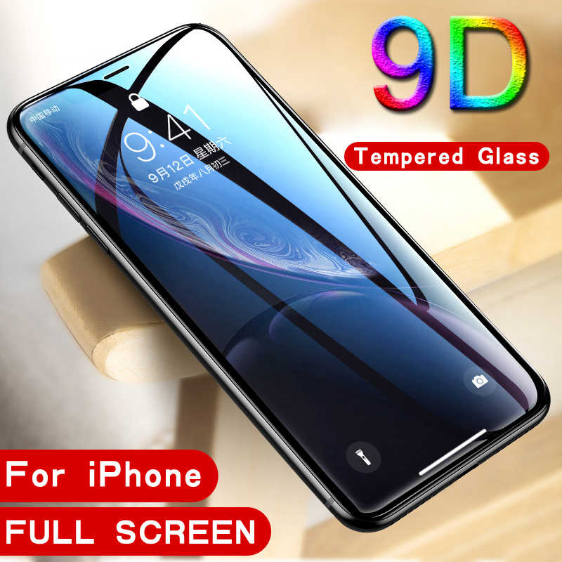 9D protective glass for iPhone 6 6S 7 8 plus X hard tempered glass on iphone 7 6 8 X R XS MAX screen protector for iPhone 7 6 XR