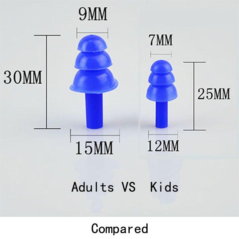 3 sets Silicone Waterproof Swim Ear Plugs Swimmers Adult Kids Children Earplugs