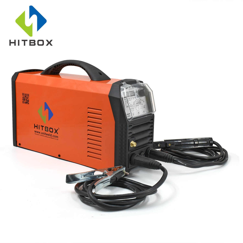 HITBOXอลูมิเนียมเครื่องเชื่อมTigเครื่องเชื่อมPFC 80V-240Vการปรับเปลี่ยนรถท่อเครื่องเชื่อมHBT2000P ACDC TIG ARC Pulse TIG