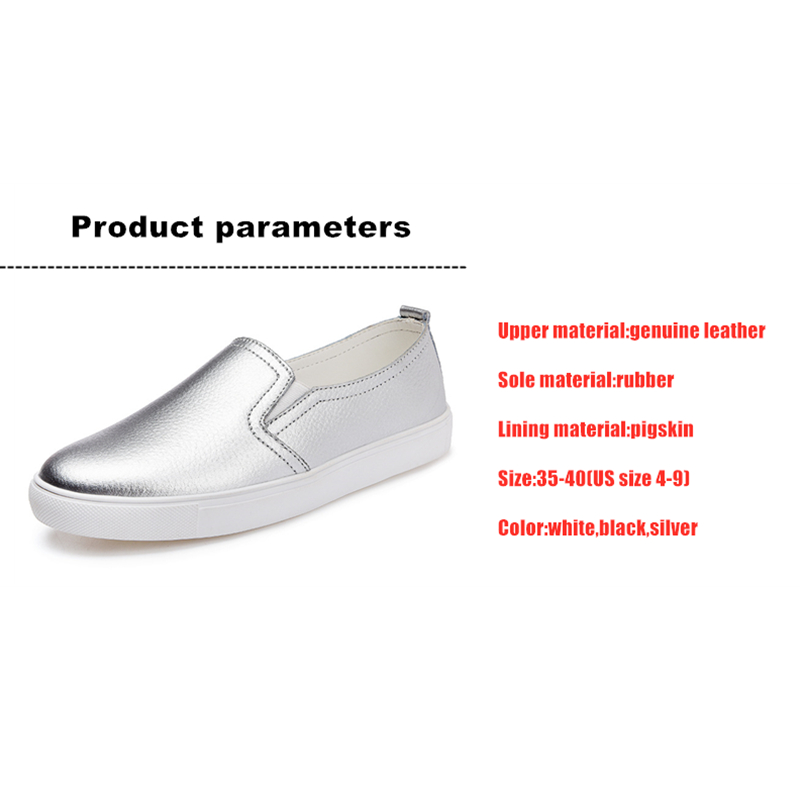 Image 5 - DONGNANFENG Womens Ladies Female Woman Cow Genuine Leather White Vulcanized Shoes Flats Loafers Korean Slip On Leisure LLX 6688Womens Vulcanize Shoes   -