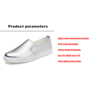 Image 5 - DONGNANFENG Womens Ladies Female Woman Cow Genuine Leather White Vulcanized Shoes Flats Loafers Korean Slip On Leisure LLX 6688