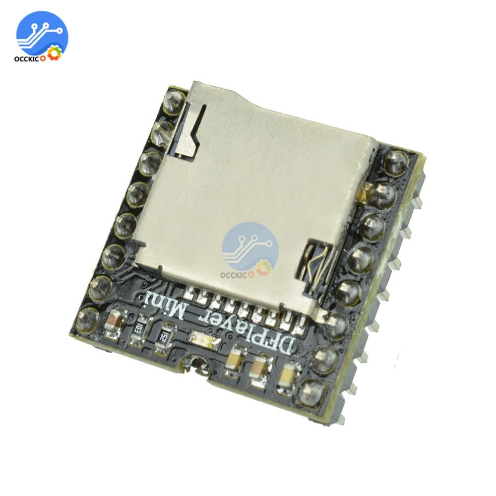 Mini MP3 DF Player Module MP3 Audio Sound Speaker Decode Board For Arduino Supporting TF Card U-Disk IO/Serial Port/AD