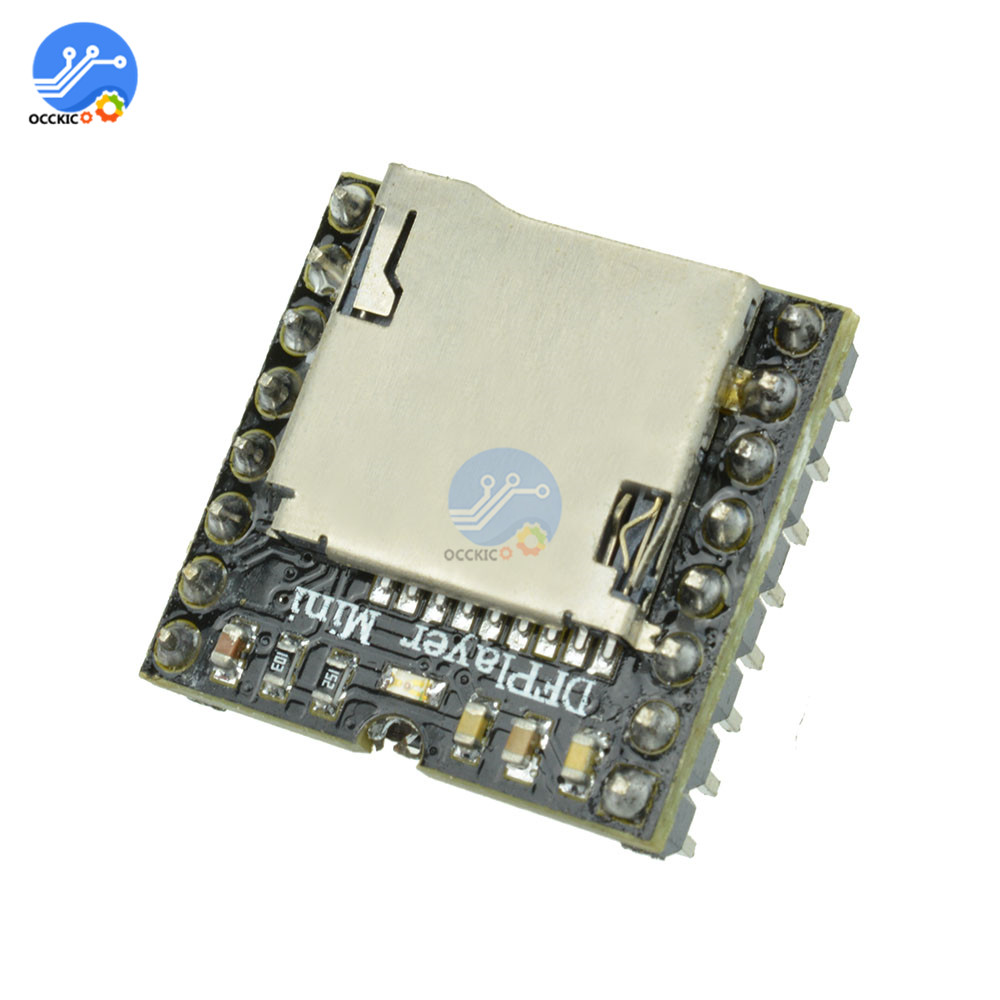 Mini MP3 DF Player Module MP3 Audio Sound Speaker Decode Board For Arduino Supporting TF Card U-Disk IO/Serial Port/AD