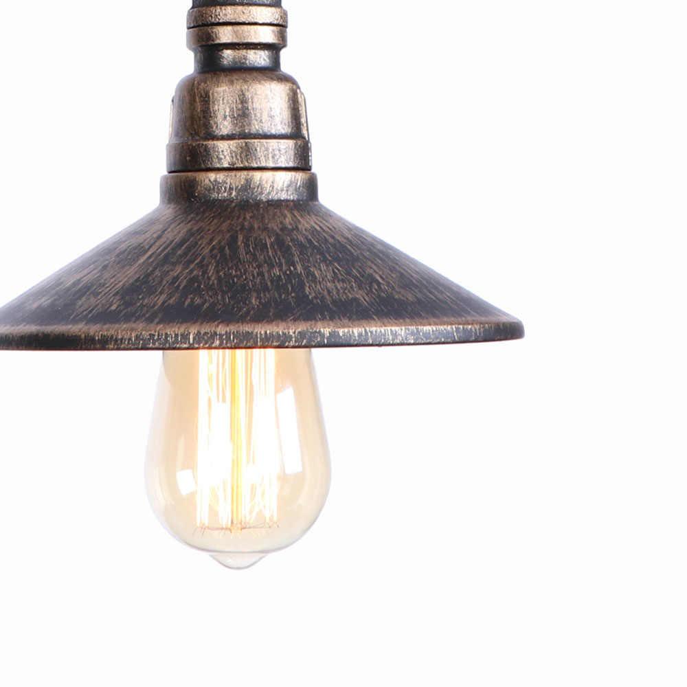 Retro Eisen Wasser Rohr Wand Lampe Loft Decor LED Wand Leuchten Industrie Edison Wand Leuchte Schalter Nacht Hause Beleuchtung
