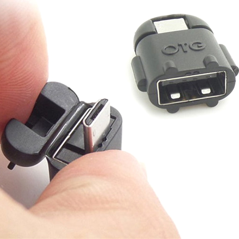 Mini Robot Shape Android Micro USB To USB 2.0 Converter USB OTG Cable Adapter For Tablet PC For Samsung S3 S4 S5 ForXiaomi