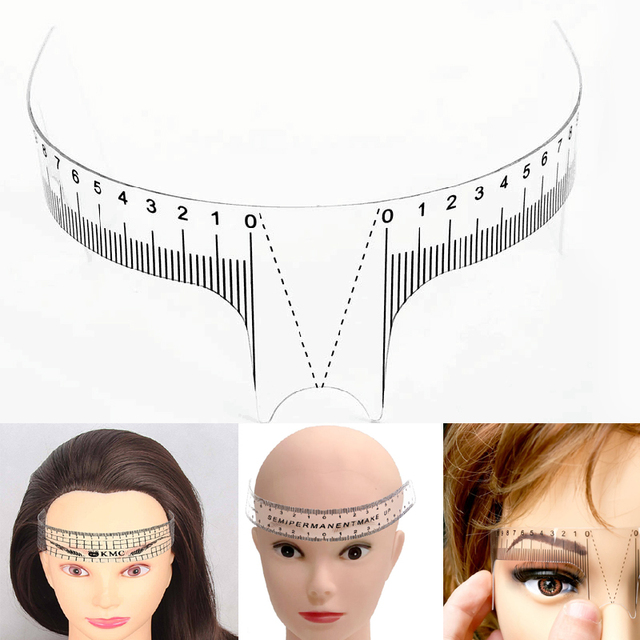 6Style Reusable Semi Permanent Eyebrow Rulers Tool Measures Microblading Permanent Make Up Eyebrow Tattoo Position Ruler