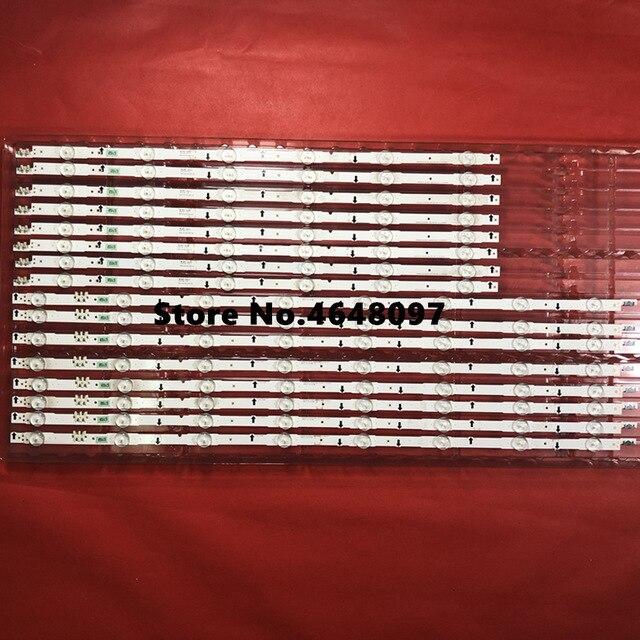 1set=16 Strips (8 Pcs - BN96-30435A (8 LEDs) + 8 Pcs BN96-30436A (6 LEDs)for 65