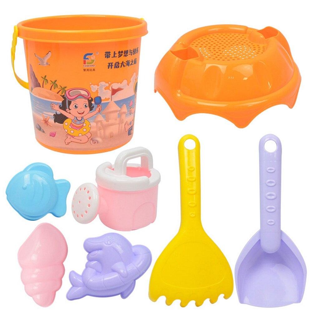 5/8 Pcs Kids Beach Sand Toy Set Pirates & Girls Dug Sand Beach Sand Toys Play Set Castle Bucket Spade Shovel Rake Bath Toys