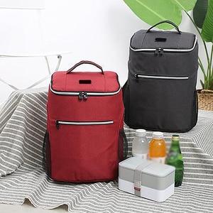 Image 3 - Mochila de enfriamiento aislante de 20L, bolsa térmica para el refrigerador Bento, bolsa para Picnic al aire libre, mochila para el almuerzo, para viaje de Camping