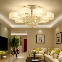 Led crystal ceiling lights modern fashion design dining room pendant lamp Teo white crystal shade acrylic luster WJ121210