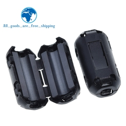 5mm Clip-On Ferrite Ring Core Noise Suppressor For EMI RFI Clip Cable Active Components Filters