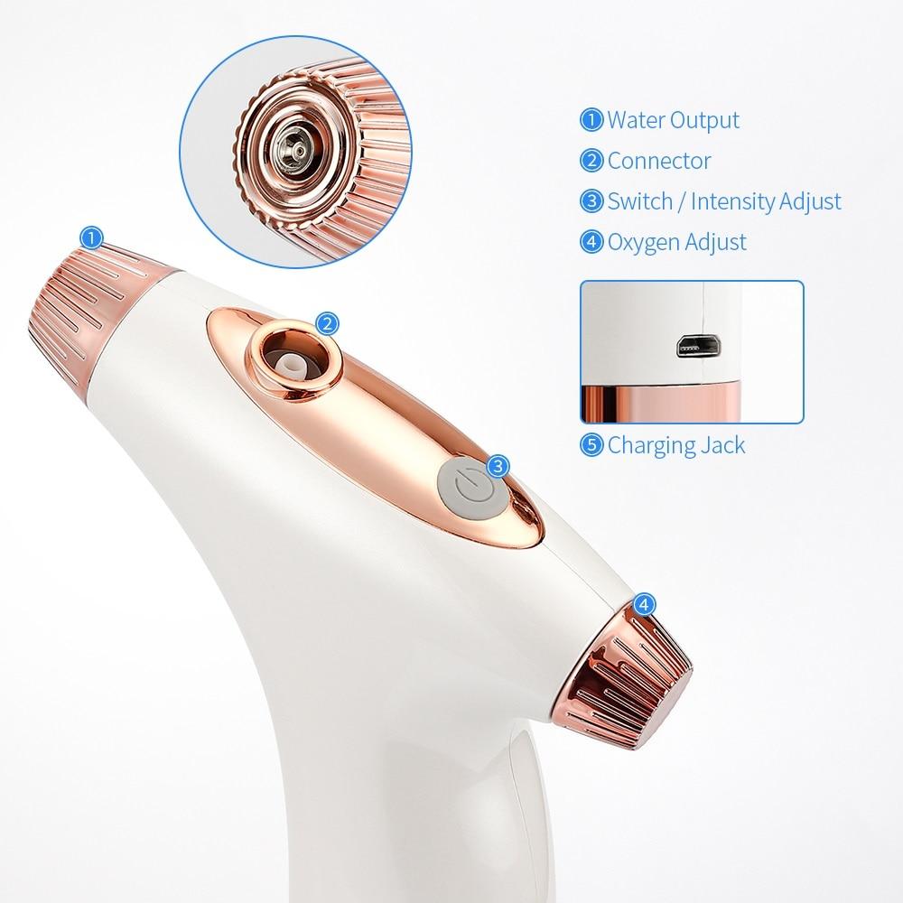 Portable Oxygen Spray Airbrush Spray Pump Pen Air Compressor Kit Oxygen Inject Machine Skin Care Tool Beauty Machine Spray Gun