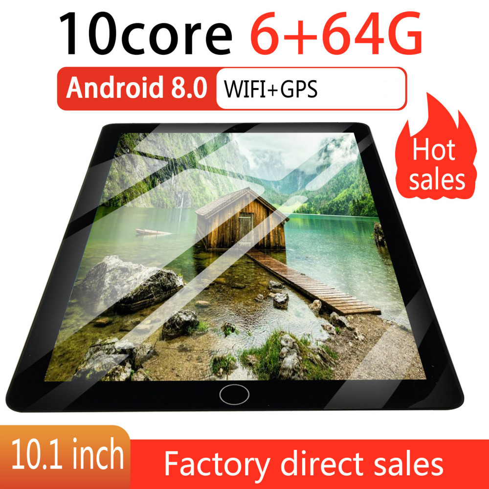 2.5 D Screen Metal 10 Inch Android 8.0 Tablet PC Octa Core Dual Camera 2.0MP/5.0MP RAM 8GB+ROM 64G/16G WiFi