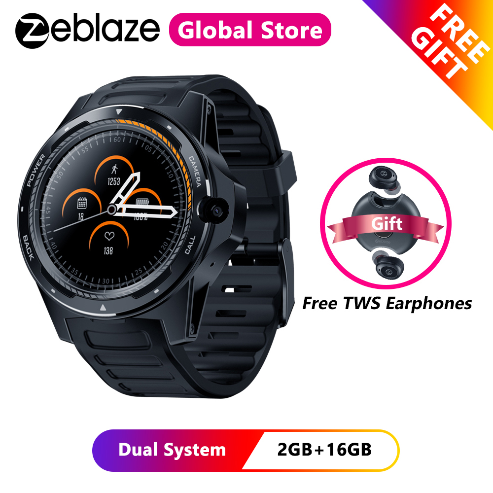Zeblaze THOR 5 Dual System Hybrid <font><b>4G</b></font> <font><b>Smartwatch</b></font> 1.39 inch AOMLED 454*454px 2GB+16GB 8.0MP Front Camera Smart Watch Men image