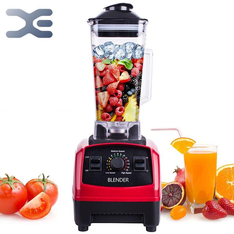 Mélangeur Commercial résistant de partie supérieure du comptoir 2200W sans BPA intégré minuterie mélangeur de nourriture professionnel presse-agrumes glace Smoothie soupes Machine