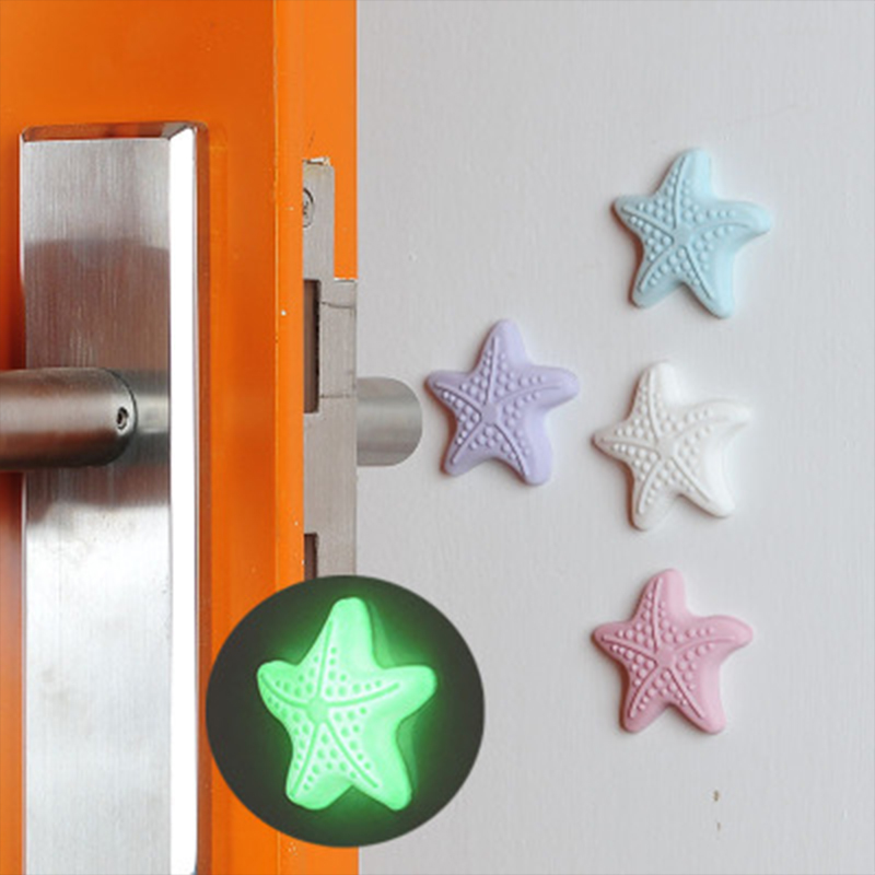 5pcs Baby Safety Door Mute Pad Home Crash Starfish Shape Rubber  Silicone Door Stop Anti Stoppers Safe Shock Wall Protector Tool
