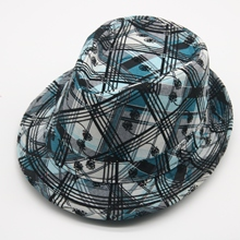 Hats Fedora Derby Classic Vintage Winter Green Women for Splicing Textile-Rose Ladies