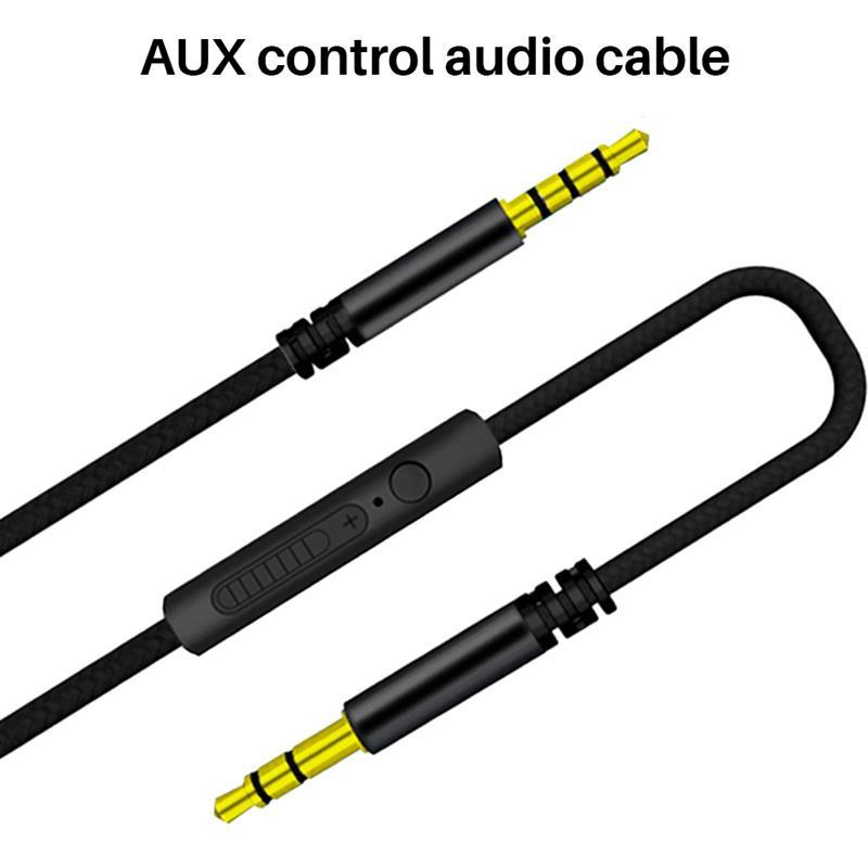 3,5 мм аудио кабель 1,2 м стерео Aux разъем Кабели с микрофоном Handsfree Громкая связь Встроенный пульт дистанционного управления для автомобильно...