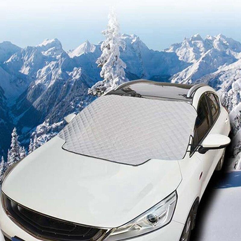Защита от снега автомобиля козырек Солнцезащитный козырек Передняя Задняя крышка лобового стекла блок щиты защита от пыли внешние