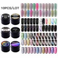 (Choisir 10) ROSALIND 5ML Gel vernis à ongles ensemble paillettes couleur tremper UV Nail Art manucure apprêt ongles Gel vernis Kit