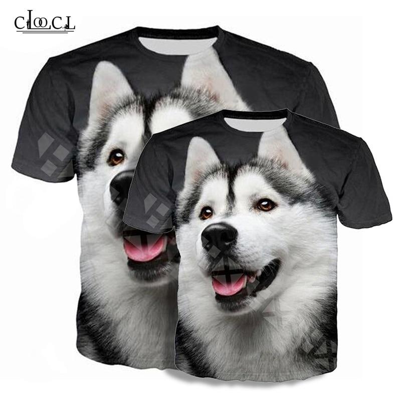 3D Printing Men's Women's T Shirt Husky Cute Dog T-Shirts Summer Short Sleeve Casual Tshirt Animal Street Wear Camiseta New Tops