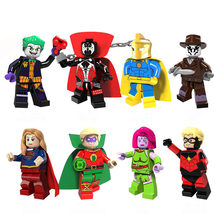 Compatible LEGO Super Hero Figures Green Lantern Doctor Fate Spawn Superman Assembled Building Blocks DIY Toys For Children Gift(China)