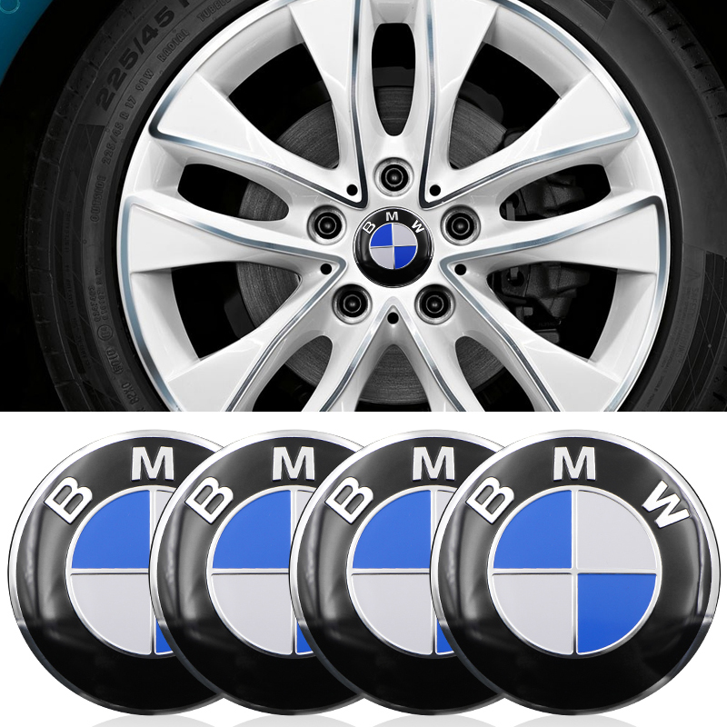 4pcs Car Wheel Tire Center Sticker Car Hubcaps Sticker For BMW E34 E36 E39 E46 E60 E90 X1 X3 X5 X6 F10 F20 F30 Car Accessories