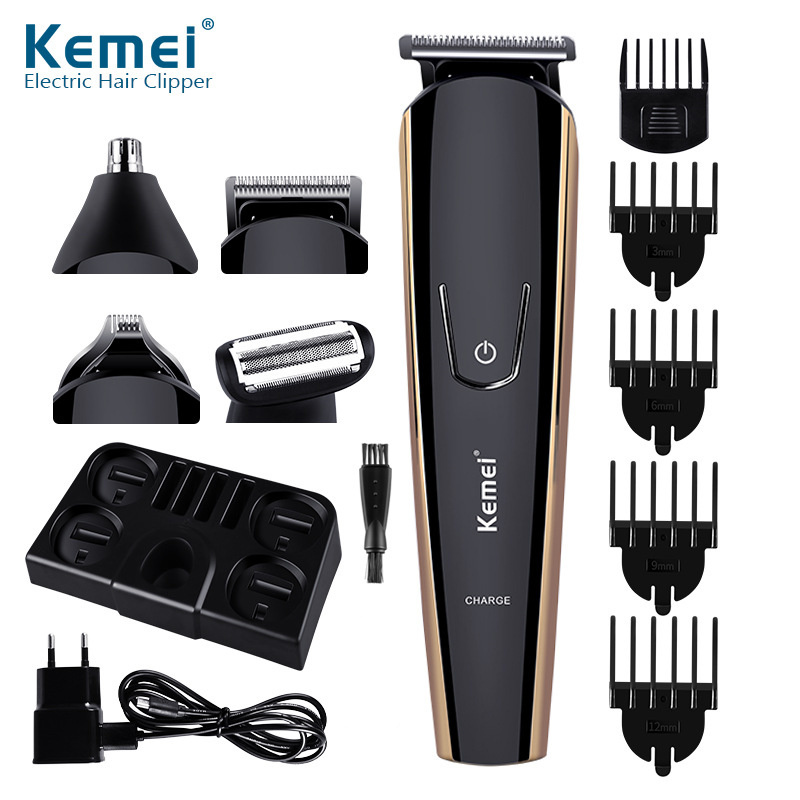 8 In 1 Men's Precision Hair Trimmer Hair Clipper Shaver Body Groomer Beard Stubble Trimer Face Shaving Machine Head Trimming 40D