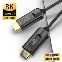 Cavo HDMI 2.1 in fibra ottica 8K ARC HDR 4K 120Hz cavo di interfaccia multimediale ad alta definizione per amplificatore TV QLED Samsung PS5