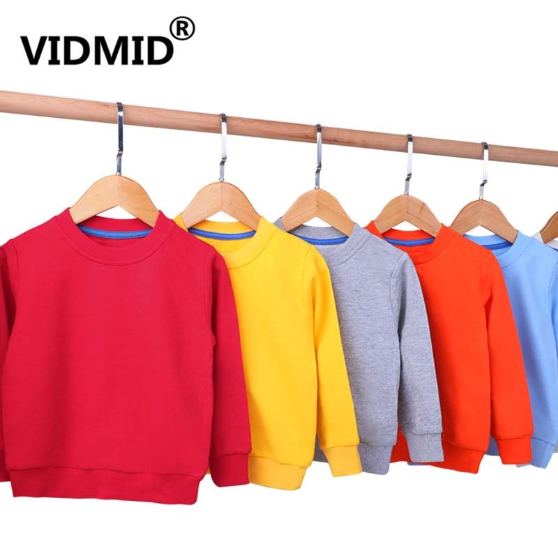 VIDMID çocuk mont t-shirt bebek kız uzun kollu ceket ceket boys giyim karikatür uzun kollu tişörtler giyim 4150 33